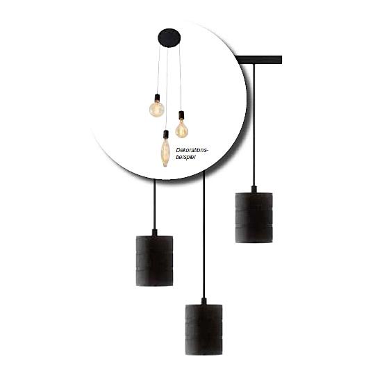 Edi-LED HOYER® E40 3er Lampenfassung für Deckenabhängung