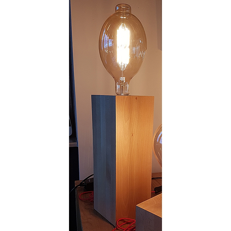 Edi-LED HOYER® Holzsockel Buche 2x1