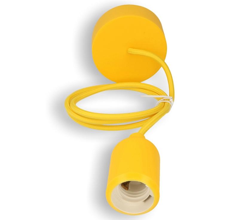 Silikon-Lampenfassung gelb