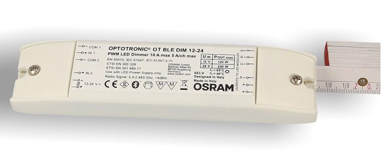 HOYER® Dimmer-Cable EURO 100-50 schwarz, Gesamtlänge 100 cm, Dimmeinheit 50cm nach dem Netzstecker (Kabelmitte)