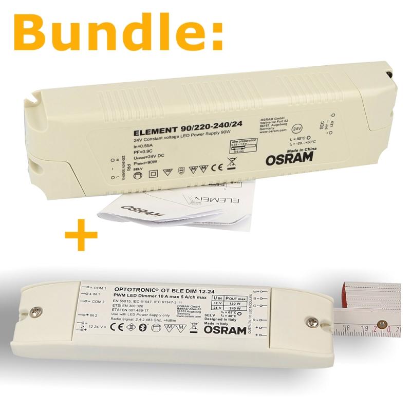 HOYER® Dimmer-Cable EURO 200-100 schwarz, Gesamtlänge 200 cm, Dimmeinheit 100cm nach dem Netzstecker (Kabelmitte)