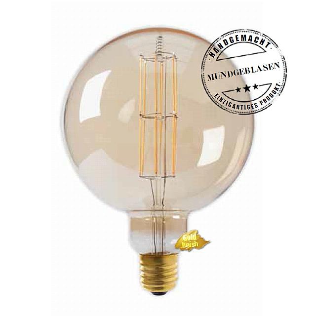 Edi-LED HOYER® Big Sphere Lampe 11W-DIM 240V BSP200/290 E40 Gold finish