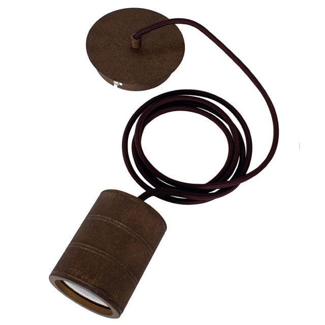 Edi-LED HOYER® E40-Einzel-Lampenfassung-Set mit Deckenbaldachin bronze