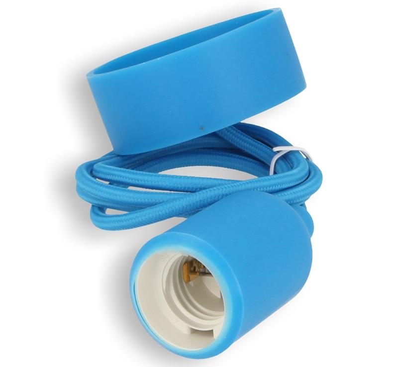 Silikon-Lampenfassung blau